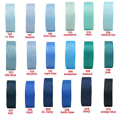 "15y 3mm 1/8"" Blue Shades Premium Grosgrain Ribbon Gift All Occasions Eco Craft"