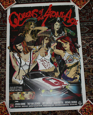 QUEENS OF THE STONE AGE concert gig tour poster 4-4-08 HOBART AUSTRALIA 2008