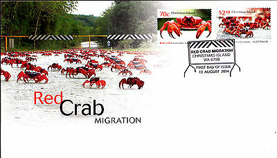 2014 Christmas Island Red Crab Migration FDC - Christmas Island WA 6798 PMK
