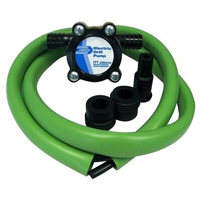 Jabsco Boat Marine Drill Pump Kit With Hose 3.5 GPM Self-priming to 3ft