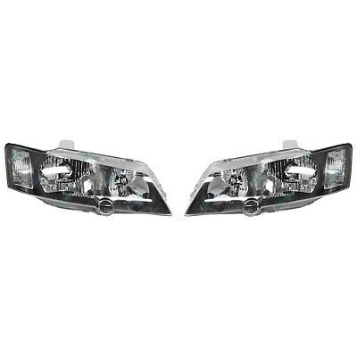 Holden Commodore VY '02-'04 Headlights BLACK PAIR LH+RH Head Lamps SS