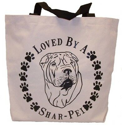 Loved By A Shar-Pei Tote Bag New  MADE IN USA