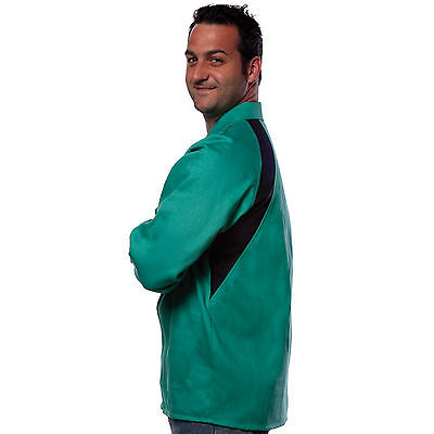 Tillman 6360 Freedom Flex FR Green Cotton Welding Jacket - 2XL