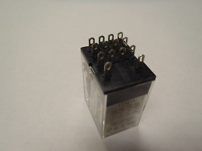 4PDT Relay Omron MY4 12vDC w/ Din Rail Socket Contacts Rated for 3A @ 120vac