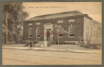 Antique Postcard United States Post Office Haddonfield New Jersey PC