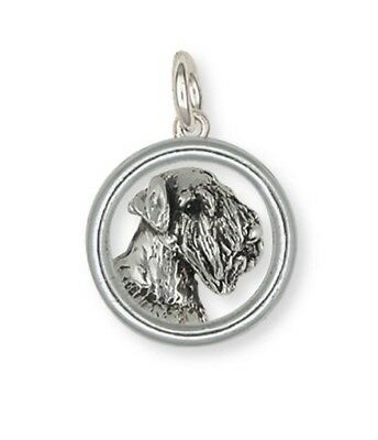 Solid Sterling Silver Sealyham Terrier Dog Pendant Jewelry  SEM1-HDC