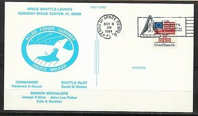 United States 1984 postcard Space Shuttle Launch STS-51-A Discovery KSC Nov 8