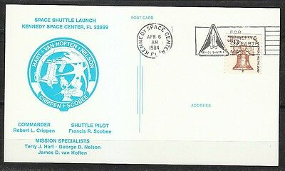 United States 1984 postcard Space Shuttle Launch STS-41-C Challenger KSC Apr 6