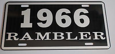Metal License Plate 1966 66 Rambler Nash Amc American Motors 660 440