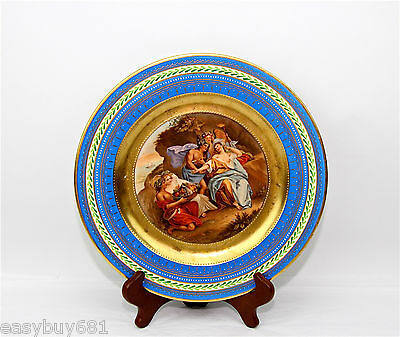 Vienna Austria Ceres Porcelain Cabinet Wall Plate Beehive Mark Artist Sign