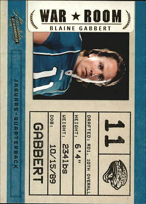 2011 Absolute Memorabilia War Room #14 Blaine Gabbert
