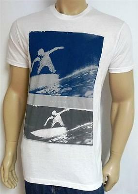 Quiksilver Double Take Tee Mens Regular Fit White 100% Cotton T-Shirt NEW NWT