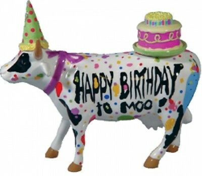 Cow Parade Happy Birthday Collectible Figurine 47331