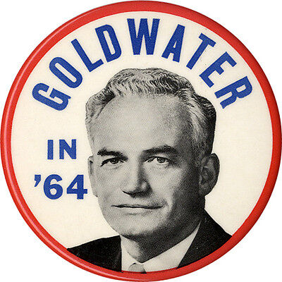 Large 1964 Barry GOLDWATER IN '64 Campaign Button (1762)