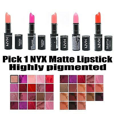 PICK 1 NYX MATTE ROUND LIPSTICK CREAM LIP STICK - Free Shipping USA !