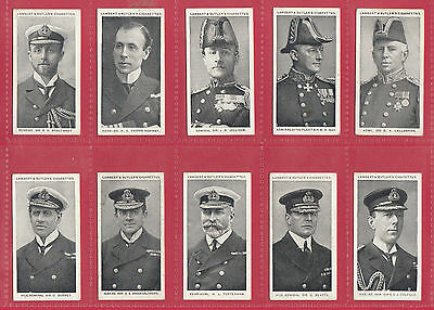 Lambert  &  Butler  -  Very  Rare  Set  Of  50  Naval  Portraits  Cards  -  1915