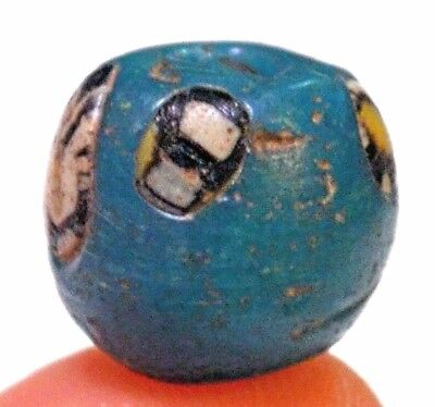 Ancient Blue Islamic Glass Wound Bead Cane Inserts Excavated Mali, African Trade