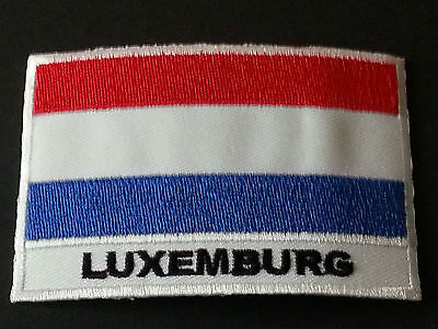 National World Country Embroidered Flag Sew/iron On Patch:- Luxemburg