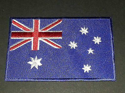 NATIONAL WORLD COUNTRY EMBROIDERED FLAG SEW/IRON ON PATCH:- AUSTRALIA (b)