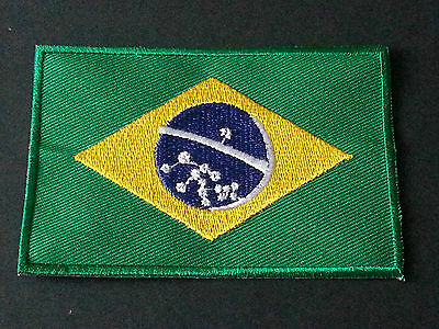National World Country Embroidered Flag Sew/iron On Patch:- Brazil