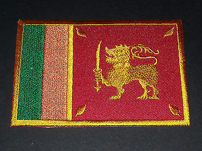 National World Country Embroidered Flag Sew/Iron On Patch:- Srilanka