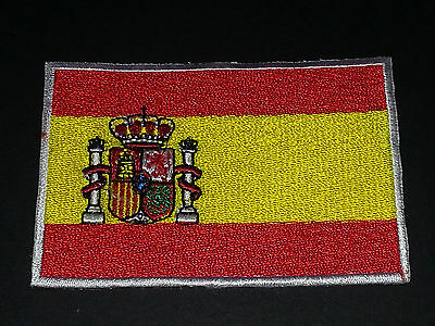 National World Country Embroidered Flag Sew/iron On Patch:- Spain
