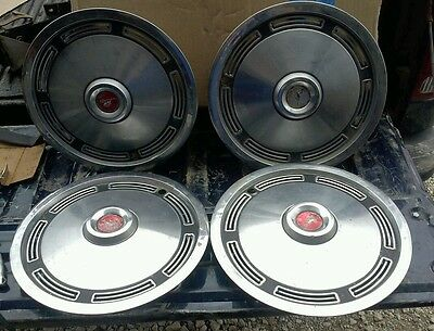 1973 1974 1975 1976 1977 1978 1979 1980 Ford Mustang Hubcaps Wheel Cover Set