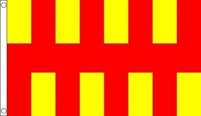 Northumberland Flag 5 x 3 FT - 100% Polyester With Eyelets - English County