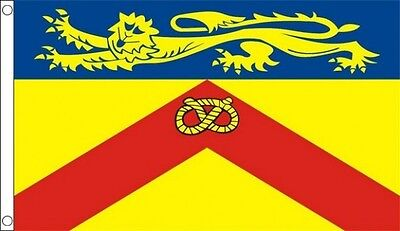 Staffordshire Flag 5 x 3 FT - 100% Polyester With Eyelets - English County