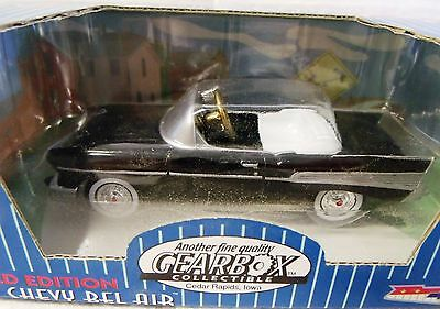 VINTAGE TOYS--57 CHEVY PEDAL CAR MINIATURE--GEARBOX COLLECTIBLES--GREAT PATINA