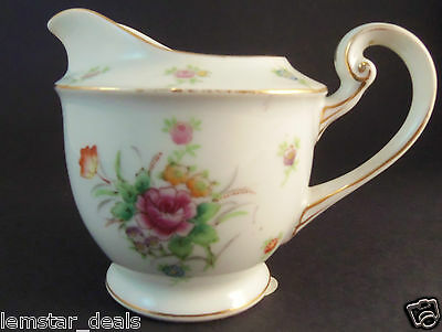 Gold China Japan Herald Red Flower Creamer Made In Occupied Japan