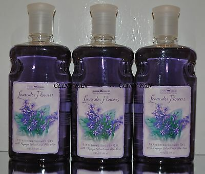 Bath & Body Works LAVENDER FLOWERS RARE SHOWER GELS LOT OF 3 FREE SHIPPING! GIFT