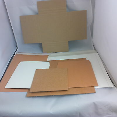 """Corrugated-Card Record mailers 7""""/12""""/LP/33rpm Chose the colour,style & quantity"""