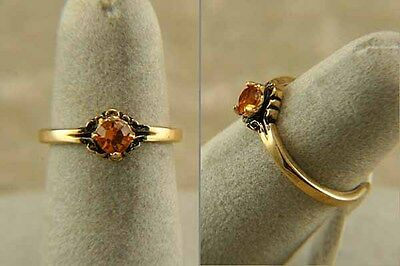 CHILDS Teens Golden TOPAZ Colour CZ Size US 5 Gold Plate Kids or Womens Ring