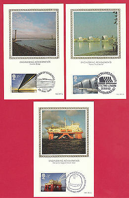 Benham First Day Of Issue Stamp Postcards -  Engineering  Achievements  -  1983