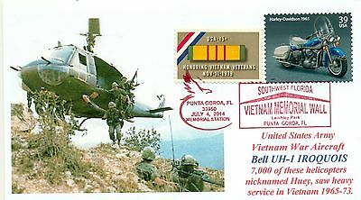 UH-1 HUEY HELICOPTER US ARMY Vietnam War Aircraft Photo Cacheted Cover Sc# 1802