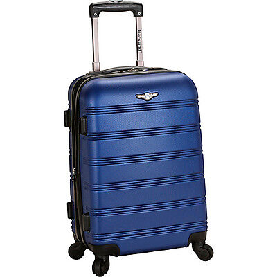 """Rockland Luggage 20"""" Melbourne Expandable ABS Carry-On Hardside Luggage NEW"""