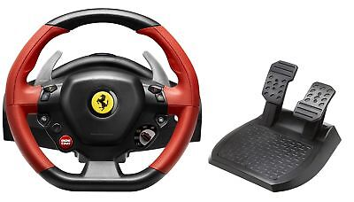 Thrustmaster Ferrari 458 Spider Racing Steering Wheel Pedals XBOX ONE XB1 Gaming