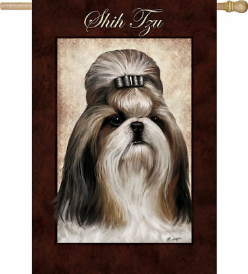 Large Outdoor SHIH TZU Full-Size House Flag Discontinued CLEARANCE SALE