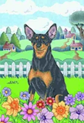 Large Flag MINIATURE PINSCHER Spring Large House Flag