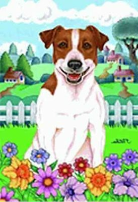 Large Flag JACK RUSSELL TERRIER Spring Large House Flag