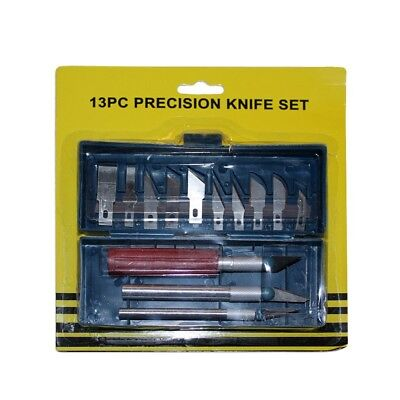 13pce Precision Hobby Knife Set with Case