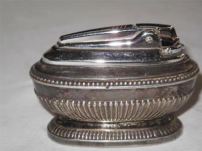 """VINTAGE RONSON """"QUEEN ANNE"""" Silver Plated Table Lighter"""