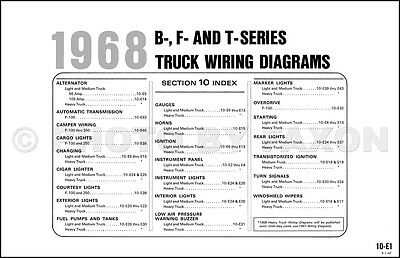 1968 ford pickup and truck wiring diagram f100 f250 f350 f500 f600 rh picclick com 1968 ford f100 alternator wiring diagram 1966 ford f250 wiring diagram