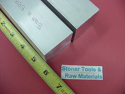 "2 Pieces 1-3/4""x 1-3/4"" ALUMINUM SQUARE 6061 FLAT BAR 5.5"" LONG SOLID Mill Stock"