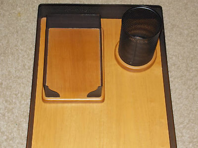 Eldon Expressions Oak - 4pc set - Letter tray, holder for pens, pads and cards