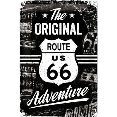 Blechschild Route 66 USA Original Adventure,Nostalgie Schild 30 cm ! ! !,NEU
