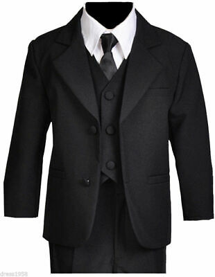 Boys Recital, Ring Bearer Graduation Formal Suit Set, Black, Sz: All Sizes