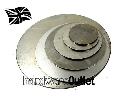 3.0mm ROUND Blank DISCS Mild Steel Sheet Plate Size 25 - 300mm  Ø Laser Cut