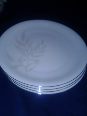 "KPM Krister 10"" Dinner Plates Set of 4  White with Silver trim  German made"